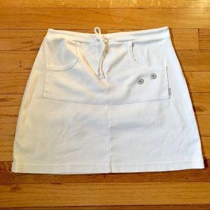 Other - LP White Cotton Knit Nautical Style Skirt